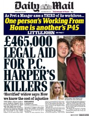 Daily Mail (UK) Newspaper Front Page for 28 August 2020