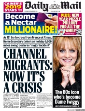 Daily Mail (UK) Newspaper Front Page for 29 December 2018