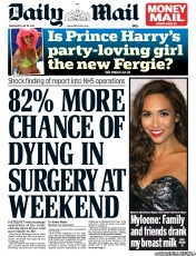 Image result for daily mail headline 2013