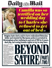 Daily Mail (UK) Newspaper Front Page for 29 June 2017