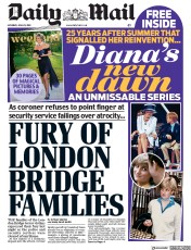 Daily Mail (UK) Newspaper Front Page for 29 June 2019