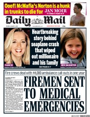 Daily Mail (UK) Newspaper Front Page for 2 January 2018