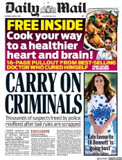 Daily Mail () Newspaper Front Page for 2 March 2019