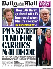 Daily Mail front page for 2 March 2021