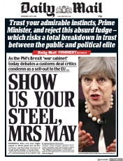 Daily Mail (UK) Newspaper Front Page for 2 May 2018