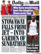 Daily Mail (UK) Newspaper Front Page for 2 July 2019