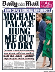 Daily Mail front page for 2 July 2020