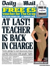 Daily Mail (UK) Newspaper Front Page for 2 September 2011