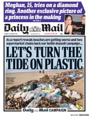 Daily Mail (UK) Newspaper Front Page for 30 November 2017