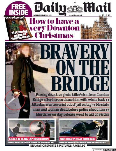Daily Mail Newspaper Front Page (UK) for 30 November 2019