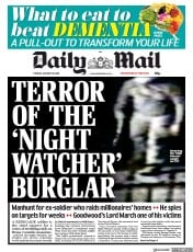 Daily Mail (UK) Newspaper Front Page for 30 January 2018