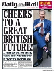 Daily Mail (UK) Newspaper Front Page for 30 March 2017