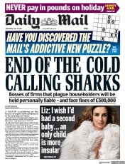 Daily Mail (UK) Newspaper Front Page for 30 May 2018