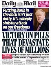 Daily Mail (UK) Newspaper Front Page for 30 May 2019