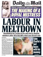 Daily Mail (UK) Newspaper Front Page for 30 June 2017