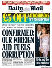 Daily Mail (UK) Newspaper Front Page for 31 October 2014