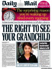 Daily Mail () Newspaper Front Page for 31 March 2011