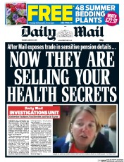 Daily Mail (UK) Newspaper Front Page for 31 March 2015
