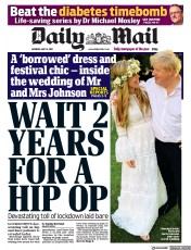 Daily Mail () Newspaper Front Page for 31 May 2021