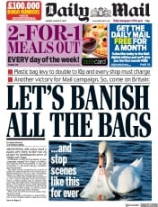 Daily Mail (UK) Newspaper Front Page for 31 August 2020