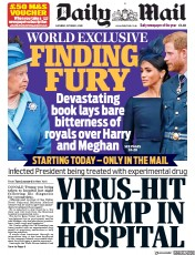 Daily Mail front page for 3 October 2020