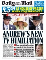 Daily Mail () Newspaper Front Page for 3 December 2019