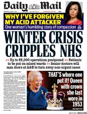 Daily Mail (UK) Newspaper Front Page for 3 January 2018