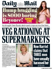 Daily Mail (UK) Newspaper Front Page for 3 February 2017