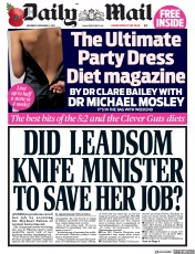 Daily Mail (UK) Newspaper Front Page for 4 November 2017