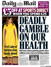 Daily Mail () Newspaper Front Page for 4 December 2019