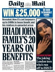 Daily Mail (UK) Newspaper Front Page for 4 March 2015