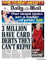 Daily Mail (UK) Newspaper Front Page for 4 April 2017