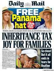 Daily Mail (UK) Newspaper Front Page for 4 July 2015