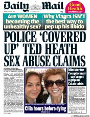 Daily Mail (UK) Newspaper Front Page for 4 August 2015