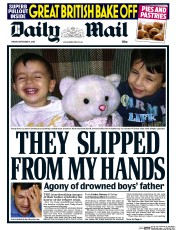 Daily Mail (UK) Newspaper Front Page for 4 September 2015