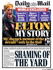 Daily Mail (UK) Newspaper Front Page for 5 October 2019
