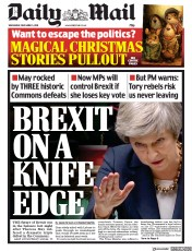 Daily Mail (UK) Newspaper Front Page for 5 December 2018