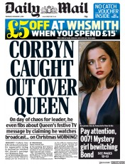 Daily Mail (UK) Newspaper Front Page for 5 December 2019