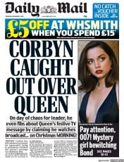 Daily Mail () Newspaper Front Page for 5 December 2019