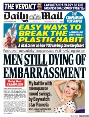 Daily Mail (UK) Newspaper Front Page for 5 February 2018