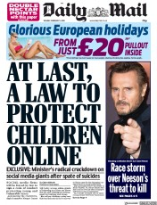 Daily Mail (UK) Newspaper Front Page for 5 February 2019