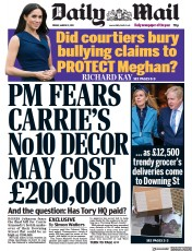 Daily Mail front page for 5 March 2021