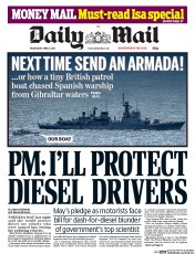 Daily Mail (UK) Newspaper Front Page for 5 April 2017
