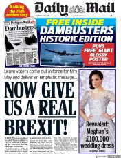 Daily Mail (UK) Newspaper Front Page for 5 May 2018