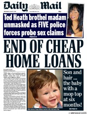 Daily Mail (UK) Newspaper Front Page for 5 August 2015