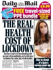 Daily Mail front page for 5 August 2020