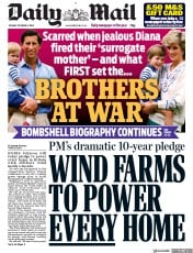 Daily Mail front page for 6 October 2020