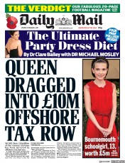 Daily Mail (UK) Newspaper Front Page for 6 November 2017