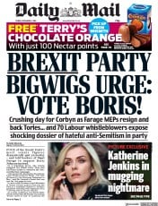 Daily Mail (UK) Newspaper Front Page for 6 December 2019