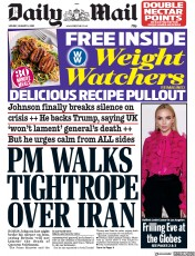 Daily Mail (UK) Newspaper Front Page for 6 January 2020